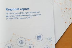 ЕКОМ представляет первый региональный доклад о нарушениях права на здоровье геев и других МСМ и транс людей в регионе ЦВЕЦА в 2017 году